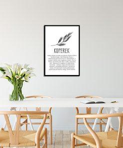 Plakat z koperkiem do kuchni