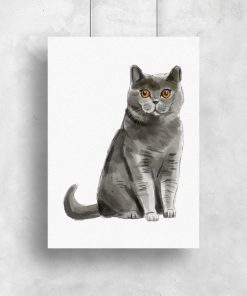 Plakat z kotem brytyjskim