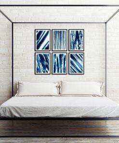 abstrakcyjne plakaty na ścianę w sypialni
