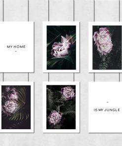 zestaw plakatów z roślinami