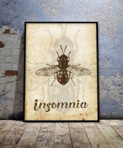 plakat z owadem