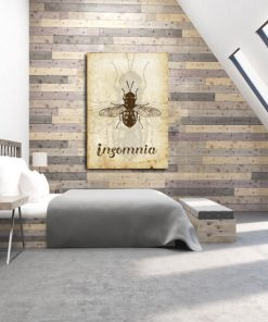 plakat z motywem owada