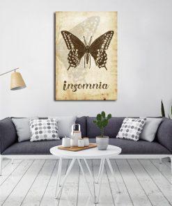 motyw motyla i insomni na plakacie