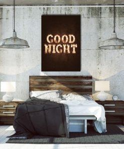 plakat do sypialni z napisem