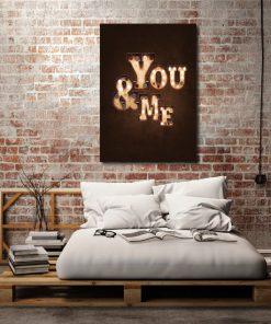 plakat i napisem you and me