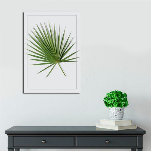 plakat z motywem palmy