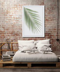 sypialnia z motywem liścia