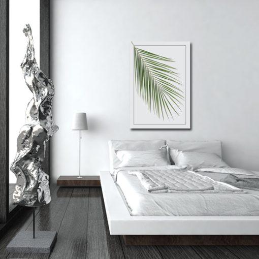 plakat pionowy z motywem liścia
