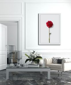 salon z plakatem pionowym