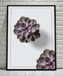 kwiatek na plakacie pionowym