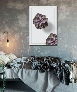 plakat do sypialni z motywem kwiatka