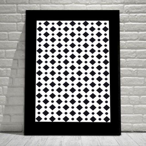 pionowa dekoracja czarno-biała