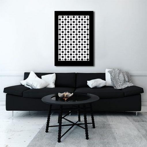 abstrakcyjne wzory na plakacie