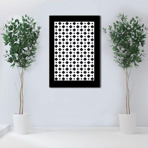 motyw czarno-białego plakatu