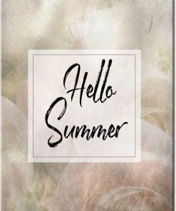 hello summer jako napis na plakacie