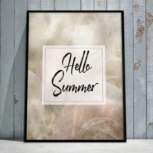 hello summer na plakacie