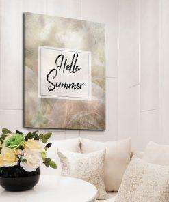 plakat z napisem hello summer