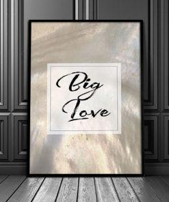 napis big love jako ozdoba