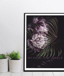 plakat z napisem o dżungli