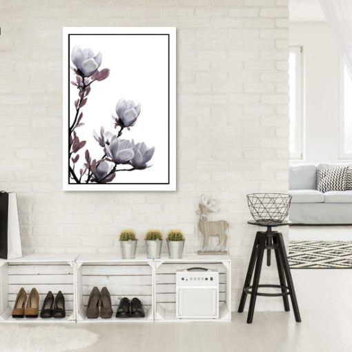 plakat z motywem magnolii