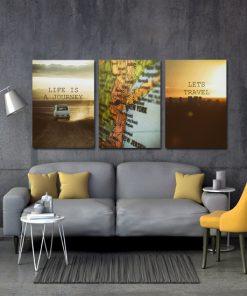 podróże na plakatach