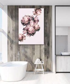 różowy plakat do łazienki