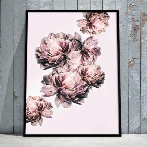 różowa dekoracja w ramce