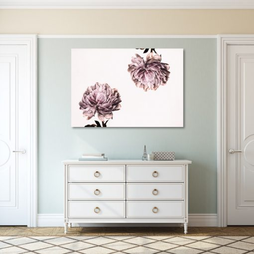 plakaty rózowe z kwiatami