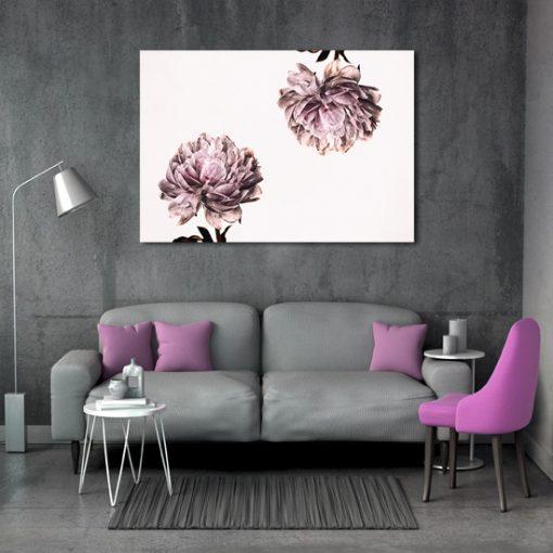 plakat z motywem kwiatów dwóch