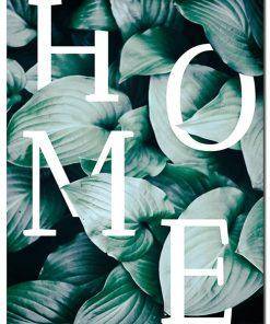 napis na liściach jako plakat