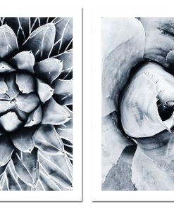 dyptyk z kwiatami