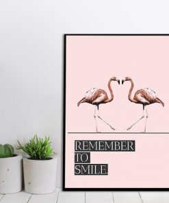 plakat różowy z motywem napisu