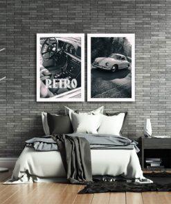 plakaty z samochodami