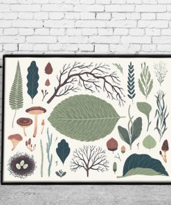 leśna dekoracja w mieszkaniu