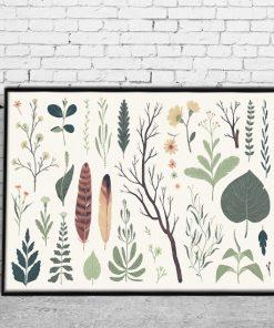 pokój z leśnym plakatem