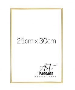 złota ramka do plakatów 21x30