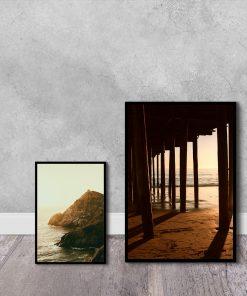 plakaty z plażą i morzem