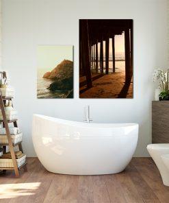 zestaw plakatów na ścianę w łazience
