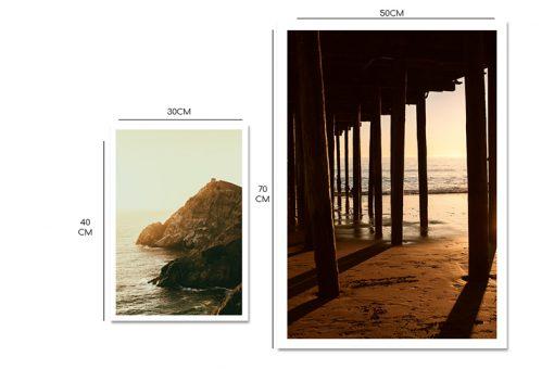 morze plaża plakaty zestaw