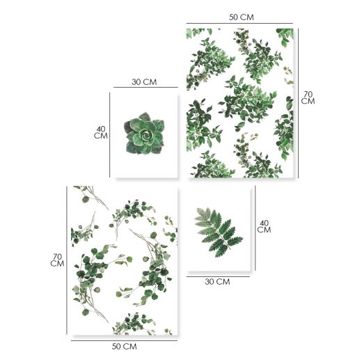 Seria plakatów z motywem roślinnym