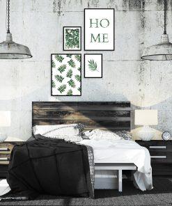 Cztery plakaty z botanicznym motywem do sypialni