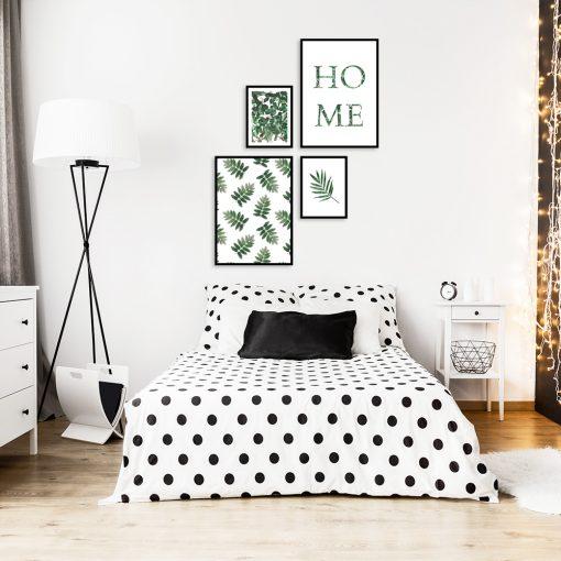 Zestaw czterech plakatów do ozdoby sypialni