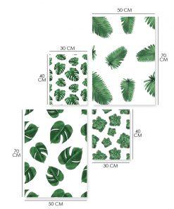 Zestaw plakatów z motywem roślinnym