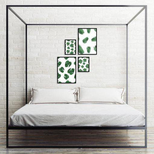 Zestaw plakatów botanicznych do sypialni