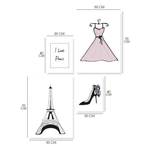 Zestaw plakatów z sukienką i butem