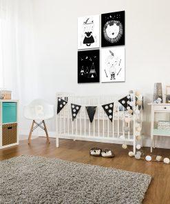 Galeria czterech plakatów do pokoju dziecięcego