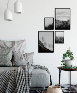 Galeria plakatów z motywem gór do salonu