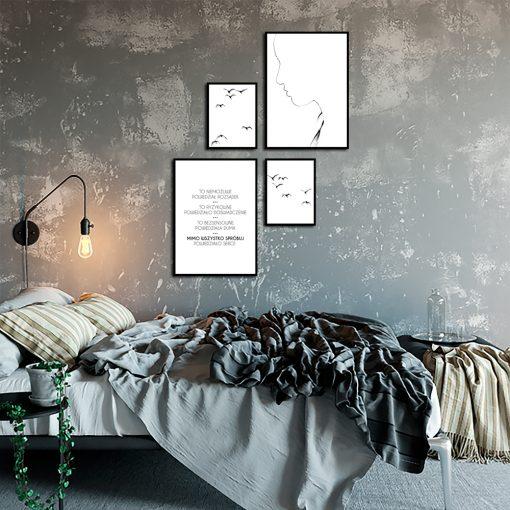 Plakaty z motywem napisu do sypialni