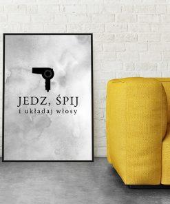 Plakat do salonu fryzjerskiego