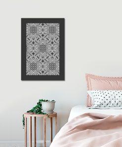 Szary plakat do sypialni